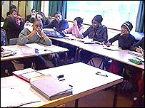 Black secondary school students