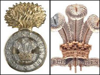 Insignia of the Royal Welch Fusiliers and the Royal Regiment of Wales