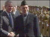 Mr Bush and Mr Karzai in Kabul