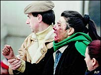 Woman injured in Sarajevo market attack in 1994