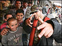 DJ Besho with young Afghan boys