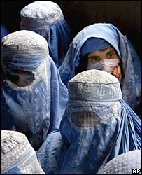 Women in burka in Kabul