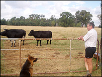 Hannes Visser on his farm