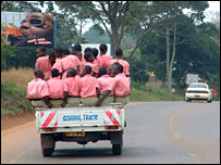School children on a truck in Uganda, taken by BBC News website reader Alan Magness