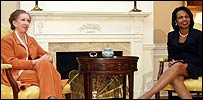 Margaret Beckett and Condoleezza Rice