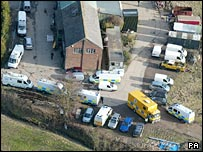 Police at the farm in Staplehurst in Kent