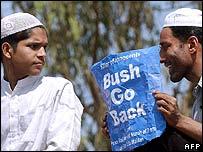 Muslim protesters in Delhi