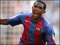 Samuel Eto'o, del Club Barcelona.