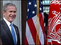 George W Bush in Kabul