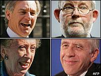 Geoff Hoon, Charles Clarke, Margaret Beckett and Jack Straw