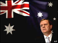 Australian Treasurer Peter Costello