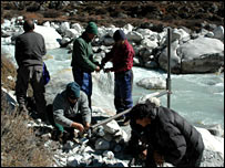 Station in river (WWF Nepal/Aarati Gurung)