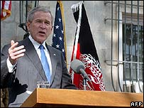 George W Bush in Kabul
