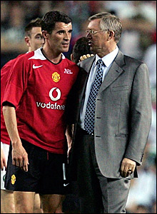 Roy Keane with his former boss at Manchester United, Sir Alex Ferguson