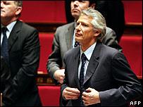 Dominique de Villepin in parliament on 9 May
