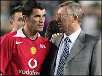 Roy Keane (left) and his former manager Sir Alex Ferguson