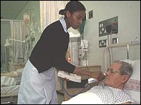 Nurse with patient
