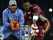 Mahendra Dhoni and Runako Morton