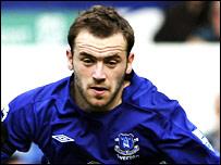 James McFadden in action for Everton