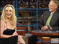 Britney Spears and David Letterman