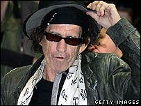Keith Richards in Japan in March