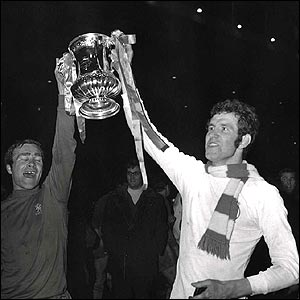 Ron Harris (left) and Peter Osgood