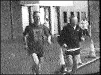 Stephen Sinnott (left) running
