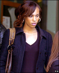 Javine Hylton leaves Bow Street Magistrates' Court