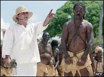 Инсценировка торговли рабами в Гваделупе