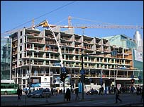 Building under construction in Tallinn