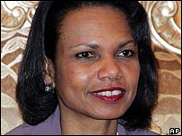 US Secretary of State Condoleezza Rice. File photo