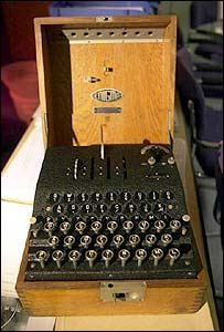 A German Enigma machine