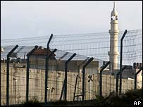A section of Israel's security barrier near Jerusalem