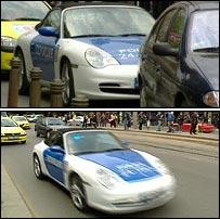 Police Porsche in Sofia