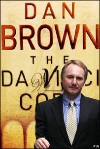 Author Dan Brown and cover of book