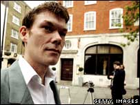 Gary McKinnon arrives for extradition hearing, Getty