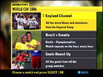 The World Cup on BBC interactive television