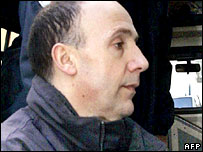 Christophe Fauviau arrives at court in Mont-de-Marsan, France