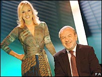 The Apprentice winner Michelle Dewberry with businessman Sir Alan Sugar