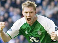 Hibernian striker Garry O'Connor