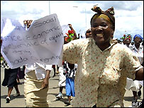Bread price protest in early 2006