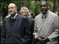 Jacques Chirac and actor Jacques Martial on Slavery Remembrance Day