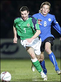Ivan Sproule scored Northern Ireland's goal against Estonia