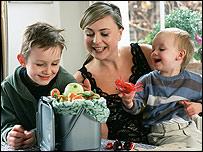 Philippa Forrester and children