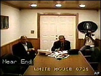 President Bush being briefed about Katrina on eve of disaster
