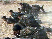 Indian soldiers training