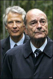 PM Dominique de Villepin and French President Jacques Chirac