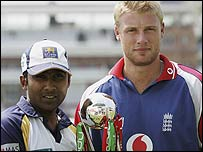 Mahela Jayawardene and Andrew Flintoff
