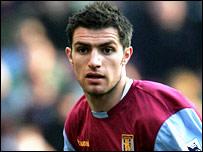 Aston Villa defender Aaron Hughes