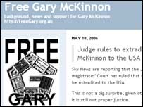 Screengrab of Free Gary blog